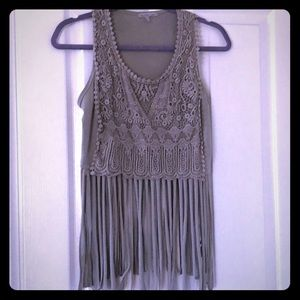 CR Fringed Crop Top